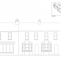 Existing Front Elevation - Christian bookshop and cafe