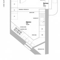 Kitchen layout option - Christian bookshop and cafe