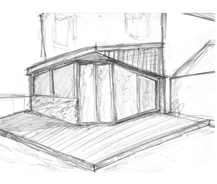 Sketch from side - alternative design