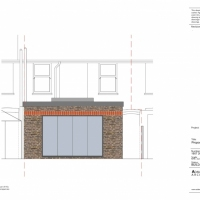 Colour rear elevation - extension planning application