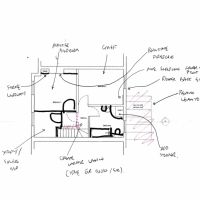 First Floor Sketch Plan - Terrace house Remodelling