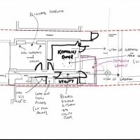 Ground Floor Sketch Plan - Terrace house Remodelling