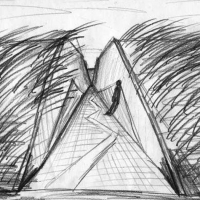"Landscape installation - sketch of ""cuts"""