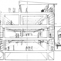 Art Gallery - Short sectional perspective