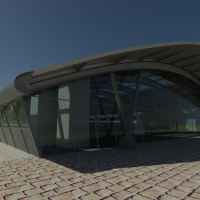 Training Centre - 3D render of the front