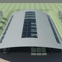 Training Centre - 3D render from above