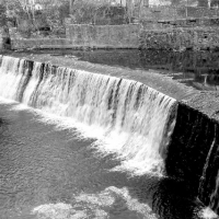 Art installation - Photograph of the existing wier