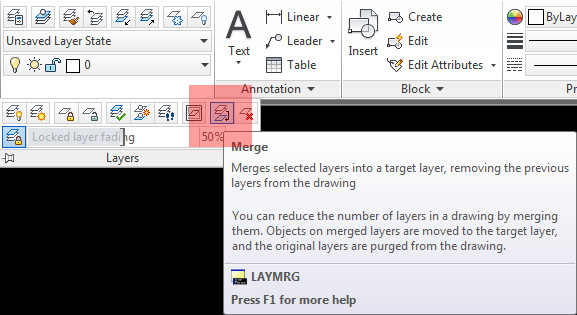 Layer Merge (LAYMRG) icon location