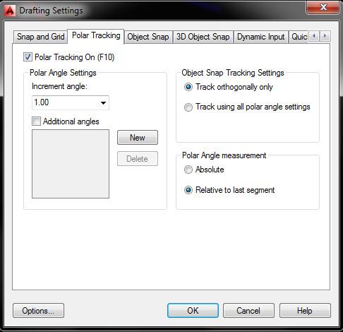 Polar tracking option for 360 degree angle feeback