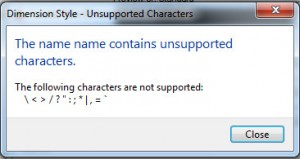Unsupported Characters