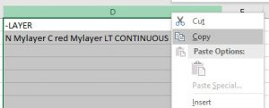 Excel to AutoCAD layers - Adam Kimber